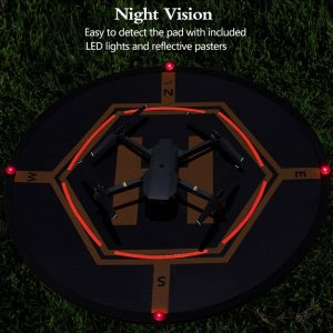 Drone Landing Pad with 4 LED Lights Included 32 Aurtec Portable Fast-Fold RC Quadcopter Helipad