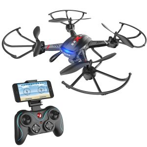Holy Stone F181W Wifi FPV Drone with 720P Wide-Angle HD Camera Live Video RC Quadcopter with Altitude Hold, Gravity Sensor Function, RTF and Easy to Fly
