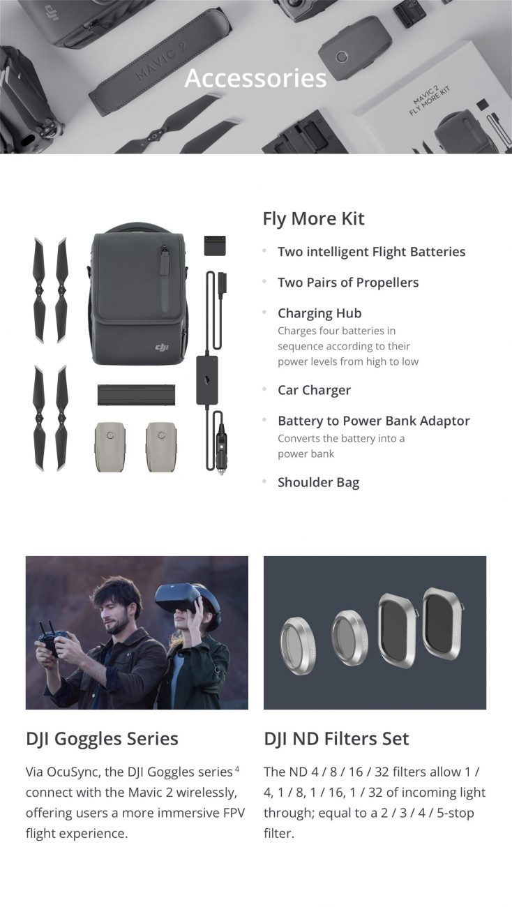 Mavic 2 Accessories Fly More Kit ssi88wh89w