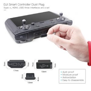 Terminal Water-Resistant Dust Cover Plug Compatible with DJI Mavic 2 Zoom Pro Enterprise Smart RC Remote Controller Accessory 3pcs61agn587vnL._SL1100_